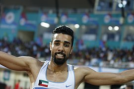 Men 110m HA ALMANDEEL Of Kuwait(Gold Winner).jpg