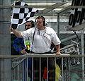 Menards Infiniti Pro Series checkered flag.JPG