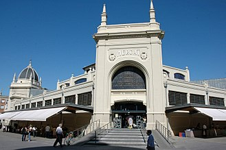 Central Market, Sabadell - One of the entrances.