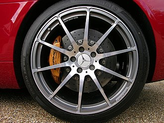 Mercedes-Benz SLS AMG - The carbon ceramic brakes were optional on the SLS AMG