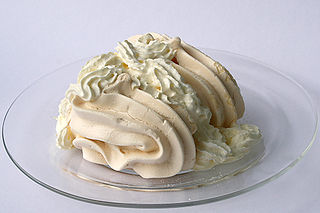 Meringue dessert, made from whipped egg whites and sugar