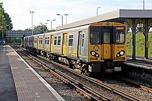 British Rail Class 508 - Merseyrail Class 508 No. 508115 at Birkenhead North