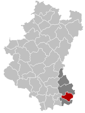 Messancy - Image: Messancy Luxembourg Belgium Map