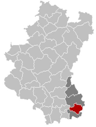 Messancy - Image: Messancy Luxembourg Belgium Map