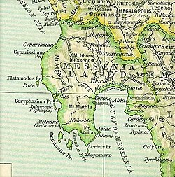 Map of ancient Messenia