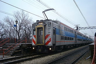 Metra - Metra Electric Highliners at 59th Street station.