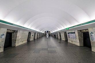 Lomonosovskaya (Saint Petersburg Metro) - Station Hall