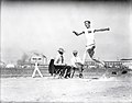 Meyer Prinstein, Greater New York Irish Athletic Association doing the broad jumping at 1904 Olympics.jpg