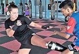 Kang in Muay Thai training in 2017