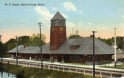 Michigan Central Depot Post Card Battle Creek MI.jpg