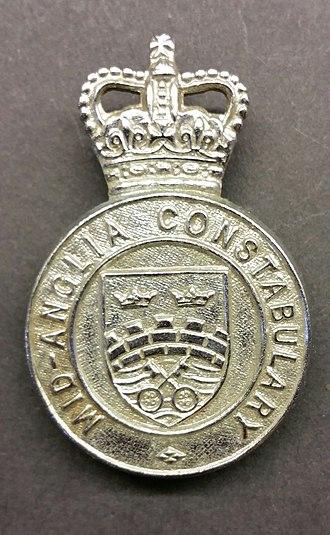 Mid-Anglia Constabulary - Image: Mid Anglia Cap Badge