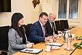 Minister for European Affairs Tytti Tuppurainen and Vice President of the European Commission Maroš Šefčovič meeting in Helsinki 2.12.2019 (49157794397).jpg
