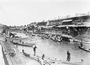Basra - Ashar Creek and bazaar, c. 1915