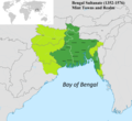 Mint Towns and Realm of Bengal Sultanate.png