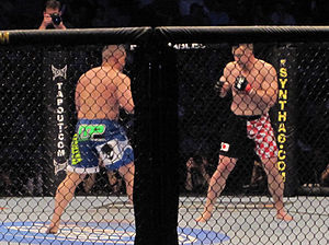 Mirko Cro Cop - Mirko Cro Cop defeated Pat Barry by submission due to a rear naked choke at UFC 115 in Vancouver, British Columbia, Canada.