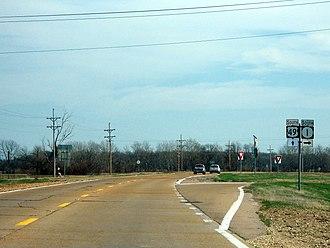 Mississippi Highway 1 - Mississippi 1 departs US 49