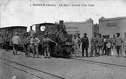 Arrival of a Decauville train at Missour station
