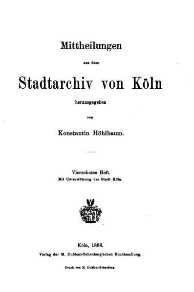 File:Mitteilungen aus dem Stadtarchiv von Köln 1888-14.djvu