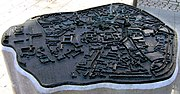 Bronze model of Münster's city center