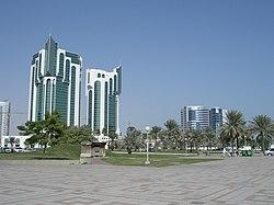 Buildings near the Doha Corniche