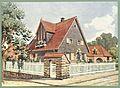 Moderne Villen in Meisteraquarellen Serie II Tafel 008 Bensheim Villa Hechler.JPG