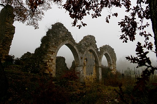 Ruins of the monastery of Santa Maria near Montefollonico