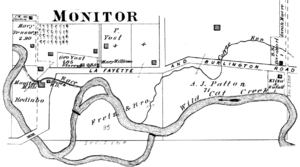 Monitor, Indiana - Monitor in 1878
