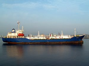 Monsoon p2-1 at the Calland canal, Port of Rotterdam, Holland 25-Jun-2006.jpg