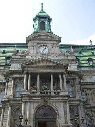 Vive le Québec libre - Montreal City Hall's balcony where De Gaulle gave his speech.