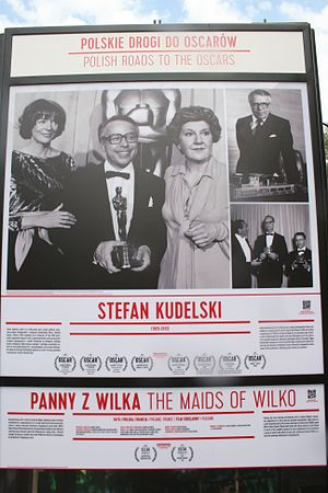 Stefan Kudelski - Photo of Kudelski receiving one of his very many Oscars