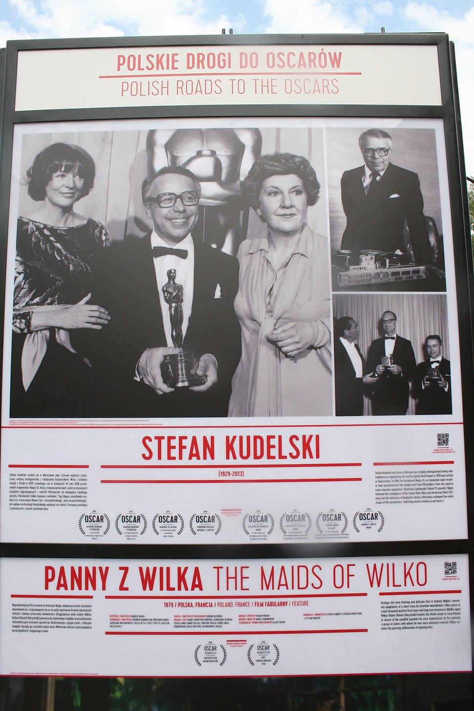 Monument to Kudelski at Polish Film Institute