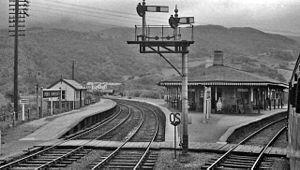 Morfa Mawddach railway station - The Station as it was in 1962