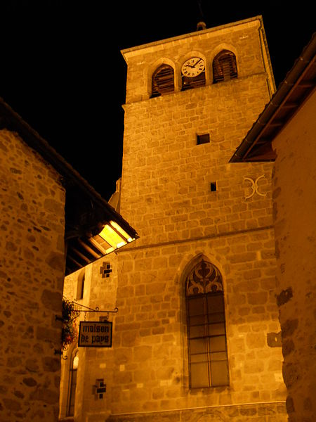 Bell tower, St. Peter church, Mornant, Rhône, France