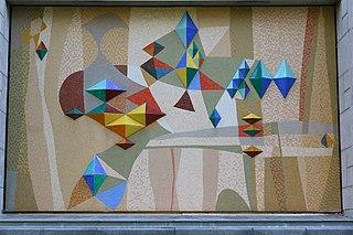 Mosaïque murale du pavillon des sciences pures