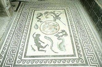 Meander (art) - Image: Mosaico marino de Pompeya