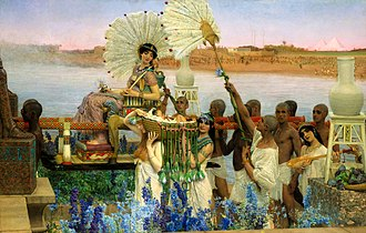 Moses - The Finding of Moses, painting by Sir Lawrence Alma-Tadema, 1904