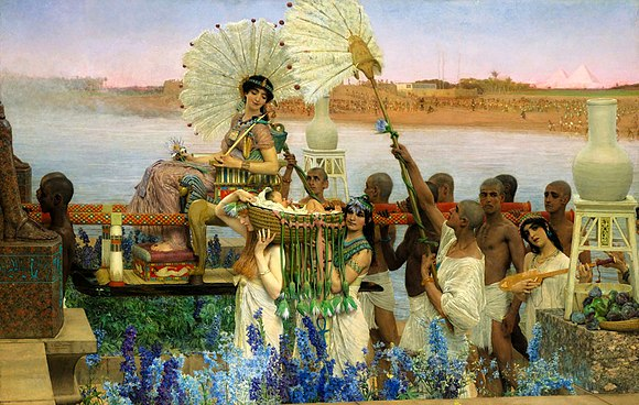 The Finding of Moses, painting by Sir Lawrence Alma-Tadema, 1904 Moses - Alta-Tadema.jpg