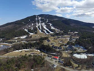 Mount Ascutney - aerial view of Mount Ascutney