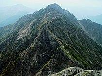 Mount Nishihotaka from Tengu col 2002-09-26.jpg
