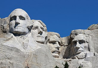 Mount Rushmore - Closeup view of sculptures