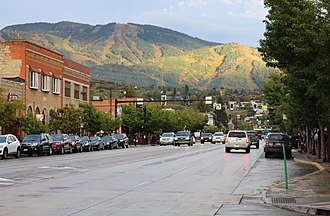 Mount Werner - The mountain viewed from Lincoln Avenue in Steamboat Springs