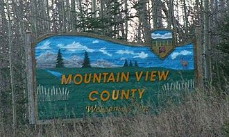 Mountain View County - Welcome sign