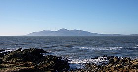 Le Slieve Donard vu depuis St. John's Point, County Down