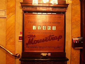The Mousetrap - 22,461st performance (St Martin's Theatre – November 2006)