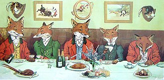 Country Life (magazine) - Harry B. Neilson's Mr Fox's Hunt Breakfast on Xmas Day (1897) appeared on the cover of Country Life in December 1997