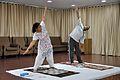 Mrs Manekar and Anil Shrikrishna Manekar - Trunk Movement - Loosening Practice - International Day of Yoga Celebration - NCSM - Kolkata 2015-06-21 7324.JPG