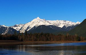 Mount Shuksan - Mt Shuksan as seen from Baker Lake to the south