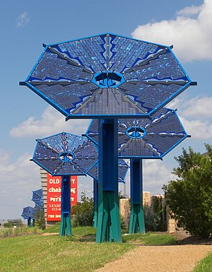 The Mueller Austin solar array at 30.3065° -97...