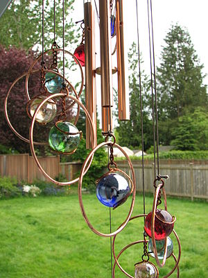 Multicolored wind chime 1