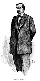 Mycroft Holmes, illustrazione di Sidney Paget